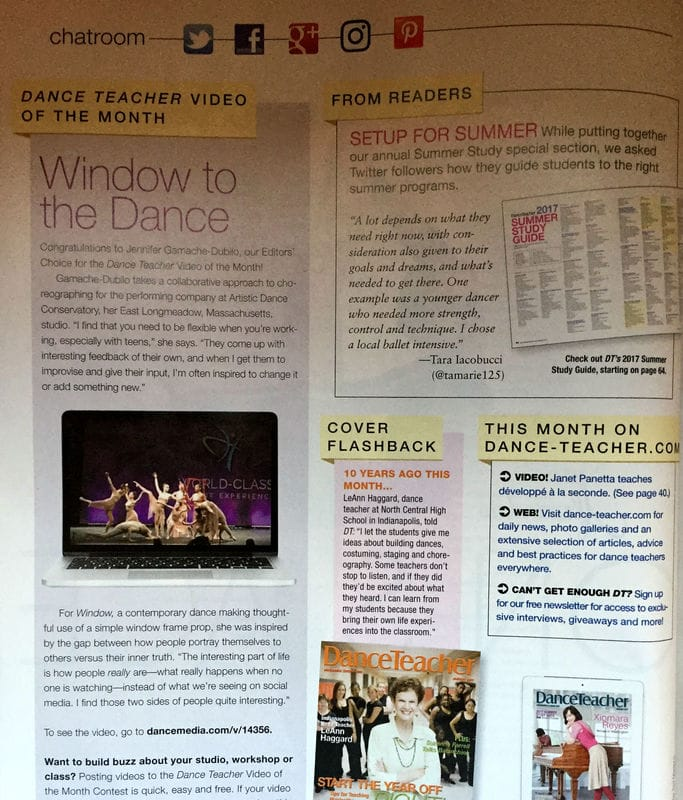 Artistic Dance Conservatory in the media